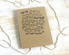 Poppytalk: Stationery at Poppytalk Handmade; moving cards