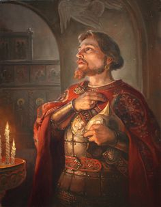 Перед битвой (Before the Battle) by Andrey Shishkin. Russian Painting, Russian Art, Royal Tea, Medieval Fashion, Fantasy Illustration, Historical Romance, First World, Fairy Tales, Concept Art