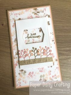 Paper Daisy Crafting: Come Crafting with Jill & Gez Facebook Live Replay - Leaves and Trees