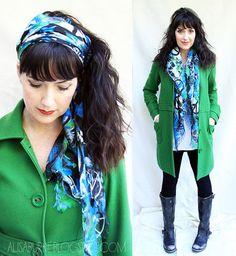 Alisa Burke — peace square scarf