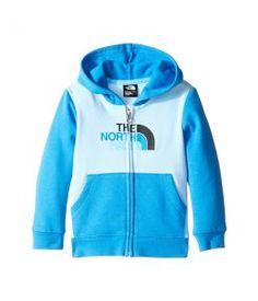 The North Face Kids Logowear Full Zip Hoodie (Infant) (Sky Blue) Kid's Sweatshirt