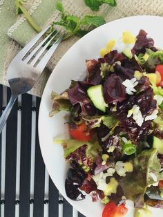 Greek Salad with Tahini Dressing | You Must Love Food