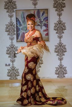 Check out this amazing post with ethic bridal wear in South Korea, India, Nigera and Morocco! Nigerian Wedding Dresses Traditional, Traditional Wedding Attire, African Traditional Dresses, Traditional Outfits, African Attire, African Dress, Nigerian Bride, Nigerian Weddings, African Weddings