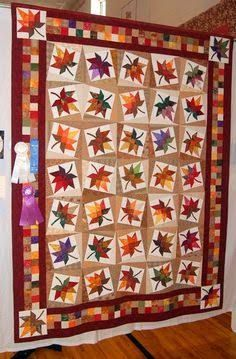 Image result for autumn leaves quilt pattern
