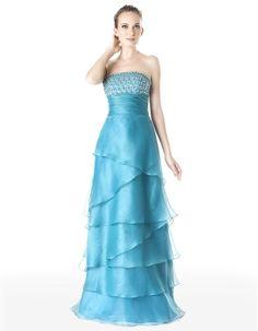 A-Line Straight Across Neckline Strapless with Ruffles and Beading Floor Length Zipper Soft Satin bridesmaid Dress