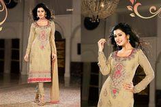 Classy Gold chiffon punjabi suit with border work.pair with mathcing bottom and dupatta. Punjabi Suits, Salwar Kameez, Chiffon, Classy, Casual, Gold, Silk Fabric, Shalwar Kameez, Patiala