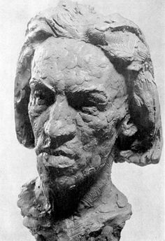 Portrait bust of Blaise Cendrars by August Suter (Paris 1911)