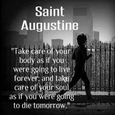 Saint Augustine body and soul