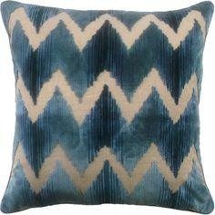 Watersedge Chevron Pillow - Aqua