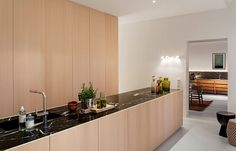 germany 2014 - apartment - refurbishment - black marble - komdo.co - .PSLAB - zementfabrik - oak - wood - cement  - push to open - kitchen island