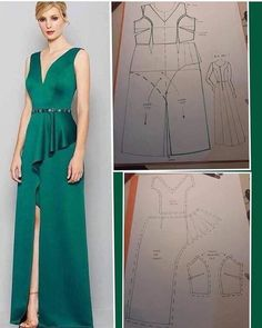 Evening Dress Patterns, Dress Making Patterns, Skirt Patterns Sewing, Clothing Patterns, Sewing Clothes, Diy Clothes, Pattern Draping, African Fashion Dresses, Fashion Sewing