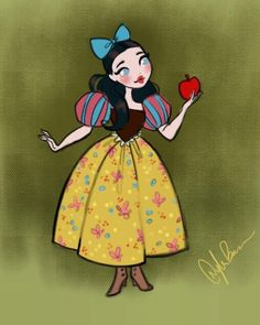 Snow White just a cute lil sketch/color. I've been so light on pieces lately! hopefully soon I'll get back into a better routine with keeping up on personal art! Disney Movie Characters, Disney Villains Art, Disney Art, Disney Movies, Disney Stuff, Disney Princesses, Walt Disney, Disney Inspired Dresses, Snow White Art