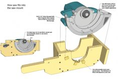 Homemade Table Saw Build Lift Mechanism Circular Saw Pinterest