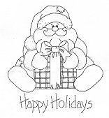 Gift Bearing Santa Rubber Stamp