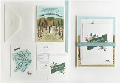 Hand illustrated wedding invitations: Anna Bond // Rifle Design