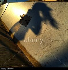 Shadow of woman running along the East River park in Manhattan. © simonrussellphotography / Stockimo / Alamy