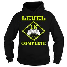 Level 18 Complete Gamer 18th Birthday Gift T-Shirt