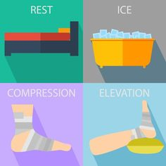 Rest Ice Compression Elevation - Help My Foot Pain Ankle Pain, Heel Pain, Foot Pain, Do You Know What, Good To Know, Red Cross First Aid, Help Me, Helpful Hints, Rest