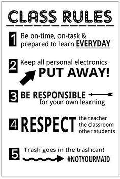 Social Studies Classroom, Middle School Classroom, Classroom Rules, Classroom Posters, English Classroom, Classroom Procedures, Flipped Classroom, Google Classroom, Classroom Decor