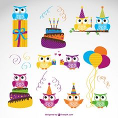 Free Vector Owl Birthday Graphic http://blog.templatemonster.com/2015/02/02/free-opencart-cosmetics-store-theme/?utm_source=LinkedinM&utm_medium=Timeline&utm_campaign=fropct