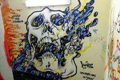 Ikano grafik alias kanos- street art paris 19 squat le bloc - aout 2013