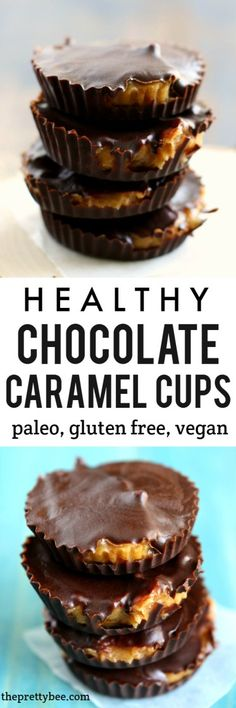 Paleo caramel chocolate cups are quick to make, and are a decadent and healthy treat!