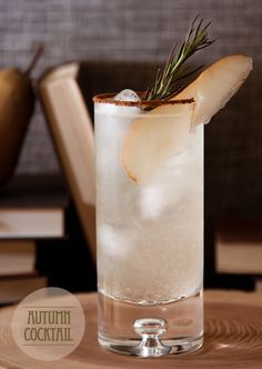 AUTUMN COCKTAIL:  60ml Pear Vodka. 30ml Ginger Liqueur. 14ml Lemon Juice. 2 sliced fresh ginger. Spring of rosemary. Dash rhubarb bitters. Pear Soda.   (gingerbread spice for rim of glass)