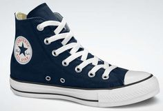 navy hi top converse