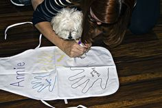 tracing Rigby's paw by The Spohrs Are Multiplying..., via Flickr