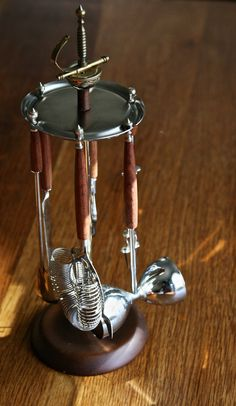 Vintage bar stand set with essential bar by FlowerPowerNation, $42.00 SOLD!