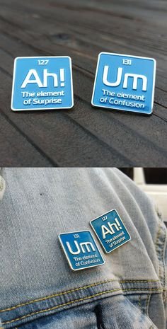 These science lapel pins are the perfect gift for science teachers scientists or just your general science nerd. You can wear your science enamel pin badges on a bag jacket lapel pin board or use it as a hat pin. Pins Vintage, Periodic Elements, Gifts Love, Bag Pins, Jacket Pins, Cool Pins, Metal Pins, Pin And Patches, Funny Pins