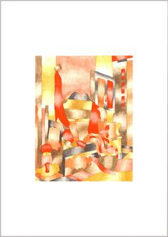 Hallway abstract painting by Nicky Rosser