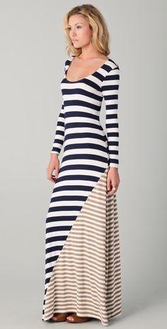 Ella Moss Chelsea Striped Maxi Dress