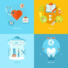 Check out Flat Medical Icons Concepts by painterr on Creative Market