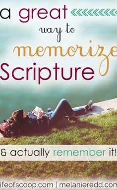 We need to be memorizing Scripture for those moments of fear, anxiety, bitterness, anger, uncertainty and more! Learn to hide God's Word in your heart with this technique that will help you to memorize Scripture & actually remember it!