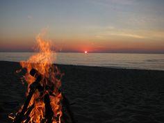Have a bonfire on the beach