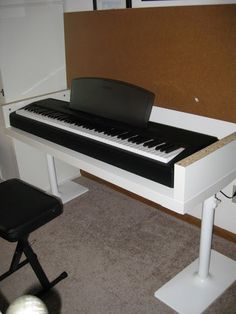 Electric Piano Stand from Ikea Shelves From Ikea Hacker Kids