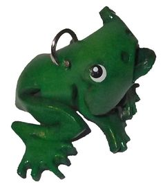 Leather Zipper Pull Toad Charm - Green Tree Frogs - Frog Jacket Chain, Small Fob Accessories - Anima