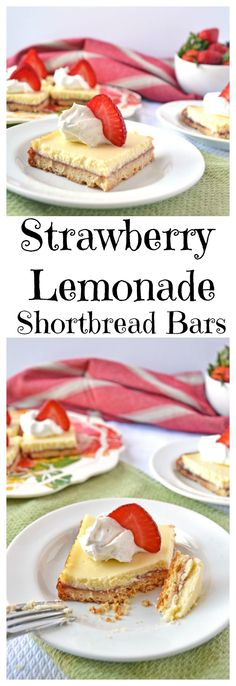 Strawberry Lemonade Shortbread Bars from Well Plated by Erin