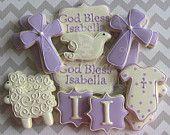 Artículos similares a One Dozen (12) Girl or Boy Personalized Decorated Sugar Cookies For Baptism Communion Confirmation en Etsy, un mercado global de artículos hechos a mano y vintage.