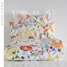 Zara Home New Collection Floral Bedroom, Linen Bedroom, Floral Bedding, Bedroom Bed, Linen Bedding, Bed Linens, Bedrooms, Zara Home, Pottery Barn Teen Bedding