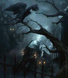 Pin by victorian chapaev on медьичернила dark fantasy art, dark artwork, ar Fantasy Kunst, Dark Fantasy Art, Fantasy Artwork, Fantasy Places, Fantasy World, Arte Obscura, Dark Artwork, Fantasy Setting, Environment Concept Art
