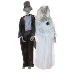 Morris Costumes Bride and Groom Set with Hands