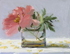 Flower paintings by Amy Brnger Acrylic Painting Flowers, Abstract Flowers, Acrylic Art, Paintings I Love, Small Paintings, Still Life Art, Arte Floral, Painting Inspiration, Flower Art