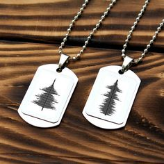 Couples soundwave Necklace, soundwave pendant, soundwave jewelry, Anniversary Necklace, Stainless Steel Necklace, Engagement necklace, gifts