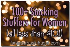 100 Stocking Stuffers for Women under $10