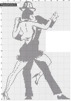 Argentine Tango X-stitch pattern