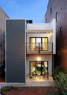 C3Prefab - Caisley Residence - modern - exterior - chicago - by Square Root Architecture + Design, Ltd.