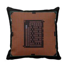 microprocessor throw pillows