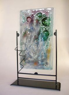 CS Vitrofusion: Placa en vitrofusion My Glass, Glass Vase, Glass Wind Chimes, Kiln Formed Glass, Fused Glass Art, Glass Ceramic, Stained Glass Patterns, Recycled Glass, Abstract